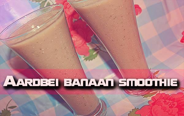 Aardbei-banaan smoothie - ontbijt smoothie