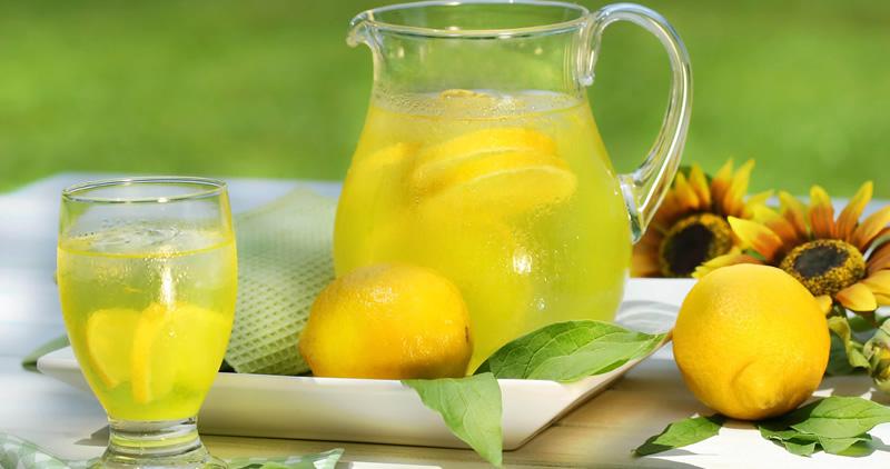 afvallen water met citroen