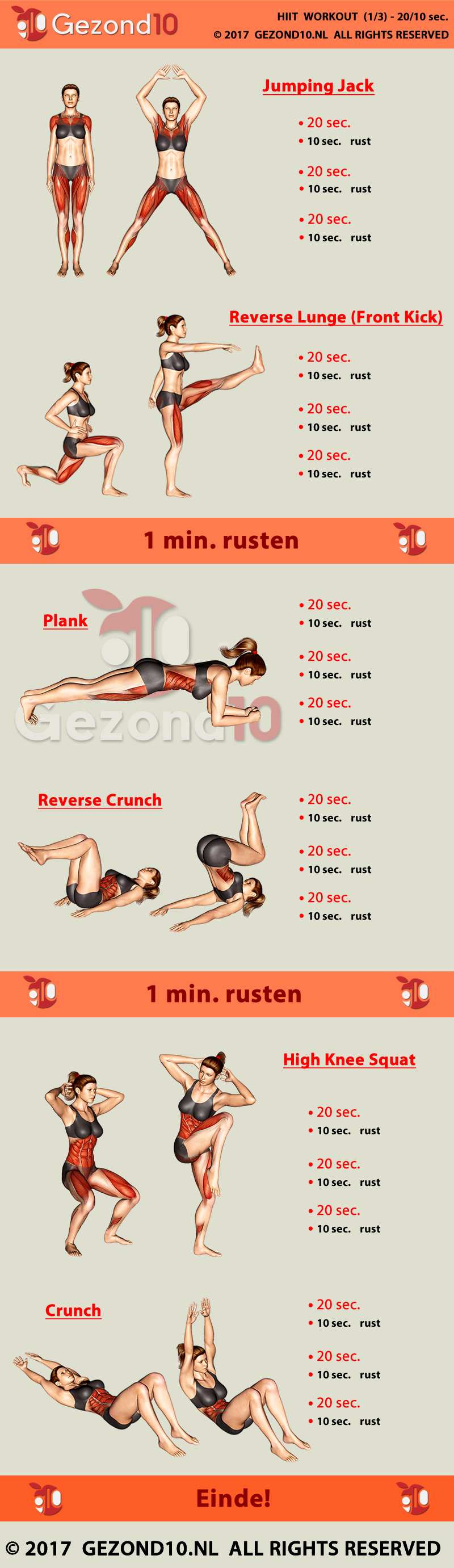 HIIT Workout Tabata training style schema 3