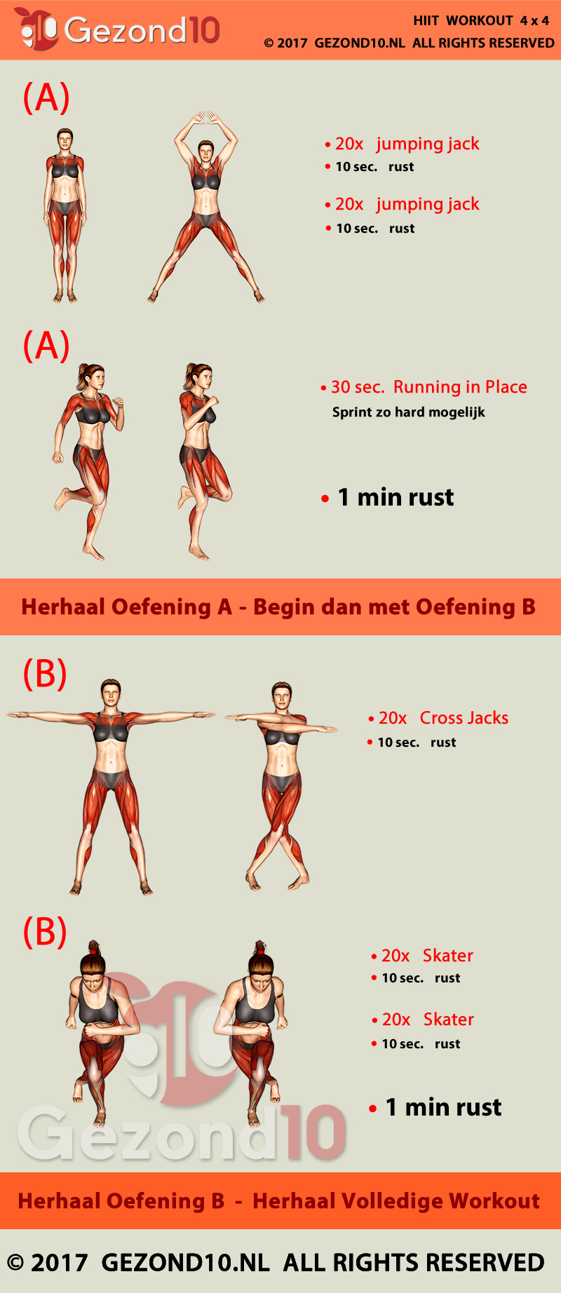 HIIT Workout Trainingsschema 1