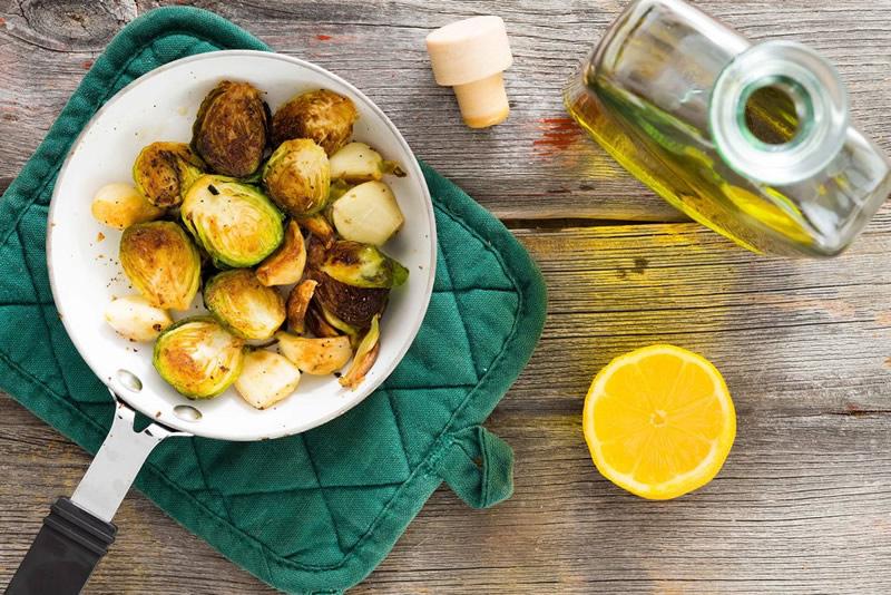 Spruitjes gezond olijfolie