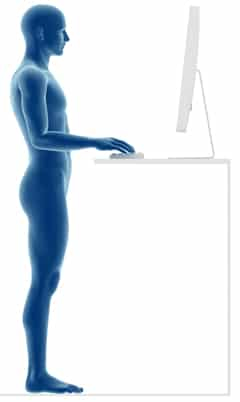 lichaam postuur sta bureau
